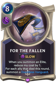 Legends of Runeterra For The Fallen Card