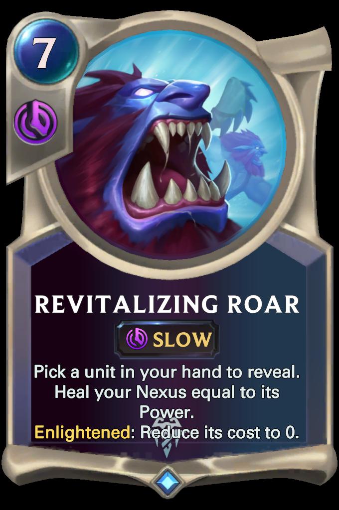 Legends of Runeterra Revitalizing Roar Card