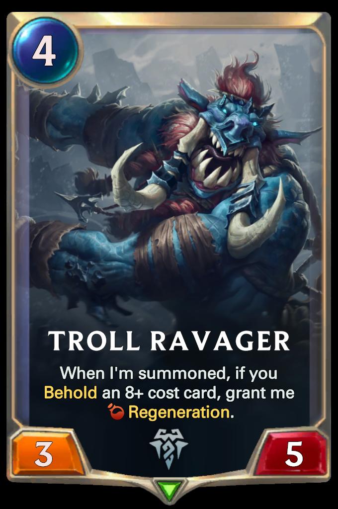 Legends of Runeterra Troll Ravager Card