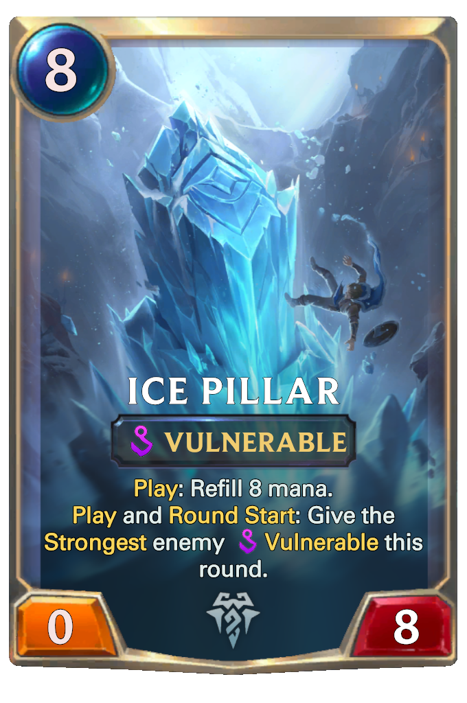 Legends of Runeterra Ice Pillar Card