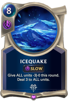 Legends of Runeterra Icequake  Card