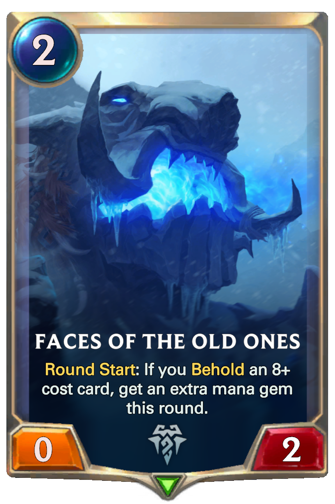 Legends of Runeterra Faces of the Old Ones Card