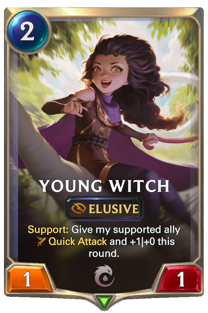 Legends of Runeterra Young Witch Card