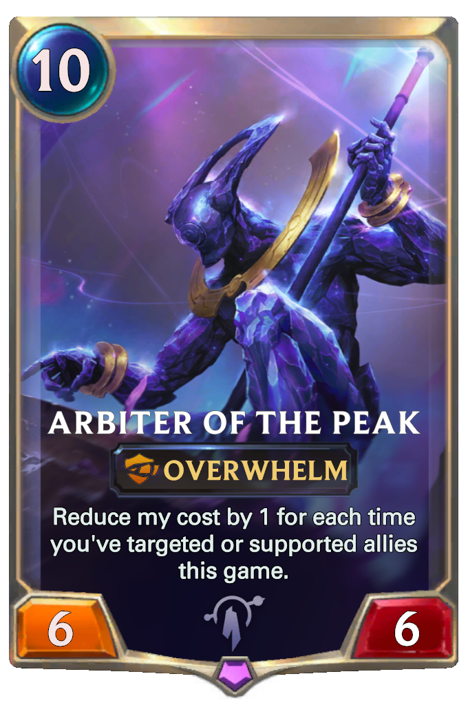 Legends of Runeterra Arbiter of the Peak Card