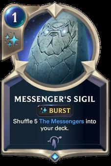 Legends of Runeterra Messenger's Sigil Card
