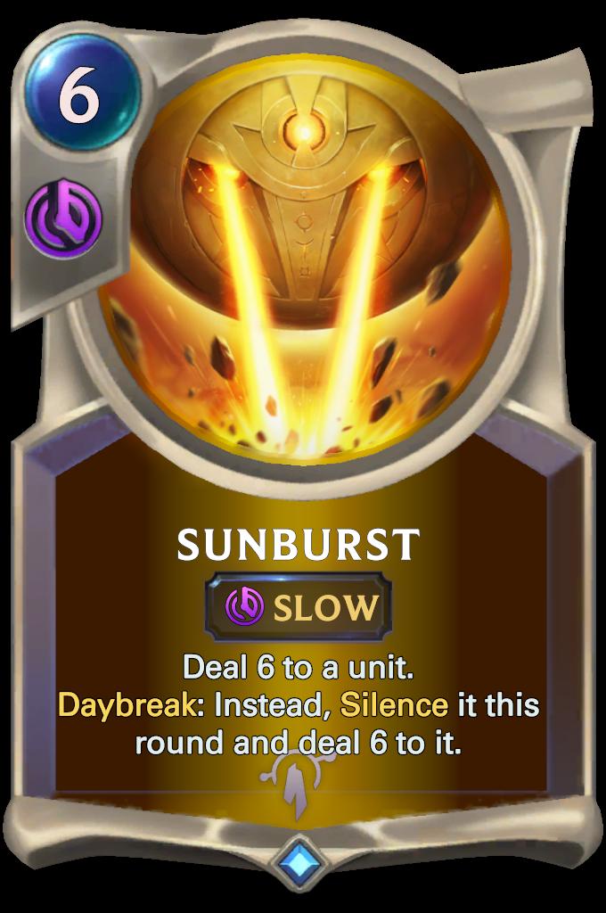 Legends of Runeterra Sunburst Card