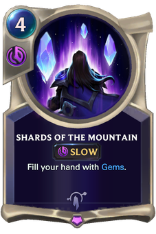 Legends of Runeterra Shards of the Mountain Card