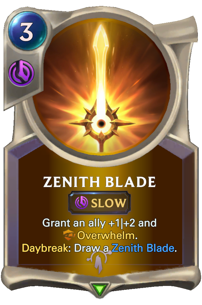 Legends of Runeterra Zenith Blade Card