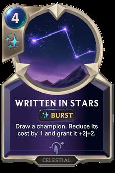 Legends of Runeterra Written in Stars Card