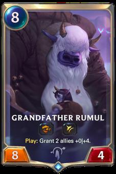 Legends of Runeterra Grandfather Rumul Card