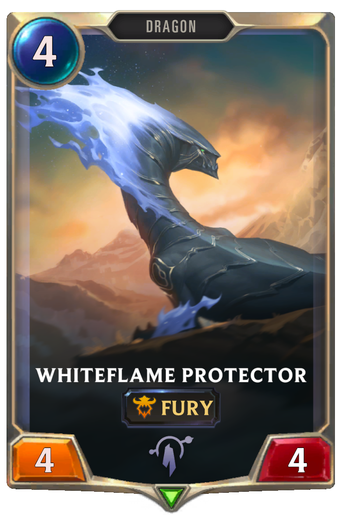 Legends of Runeterra Whiteflame Protector Card