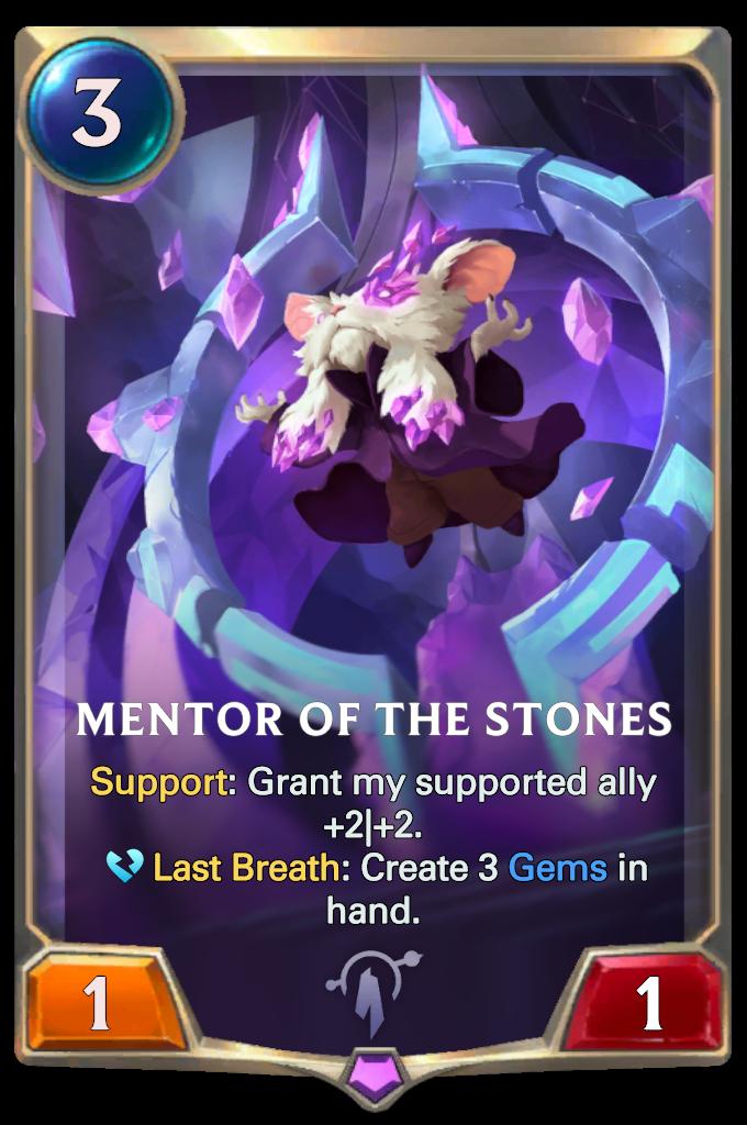 Legends of Runeterra Mentor of the Stones Card