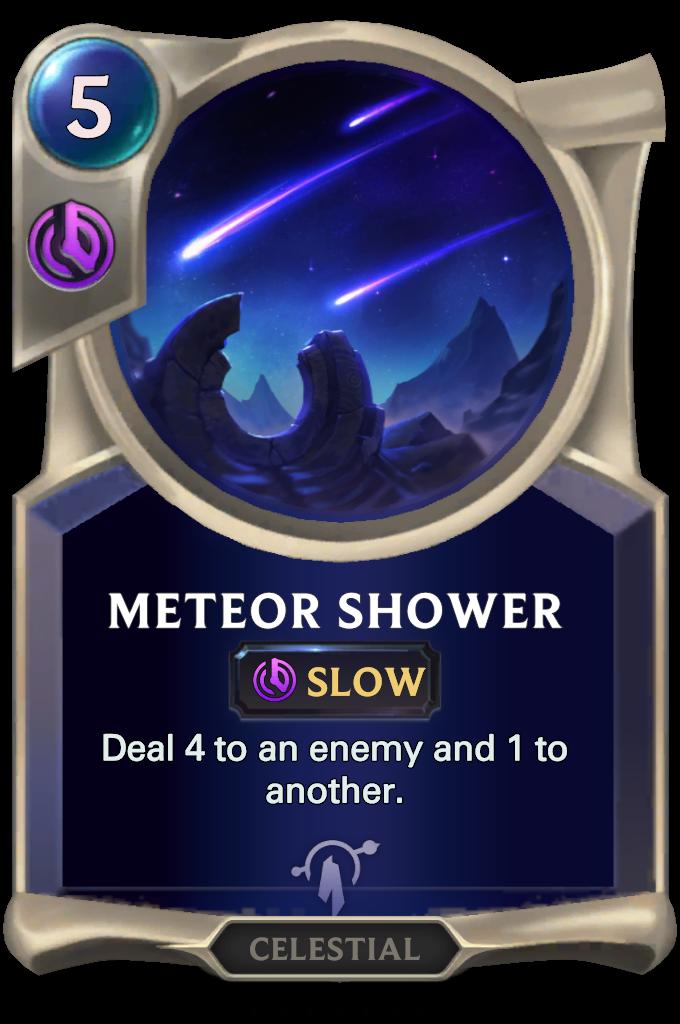 Legends of Runeterra Meteor Shower Card