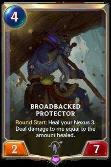 Legends of Runeterra Broadbacked Protector Card
