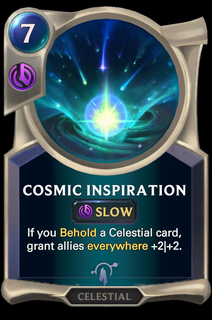 Legends of Runeterra Cosmic Inspiration Card