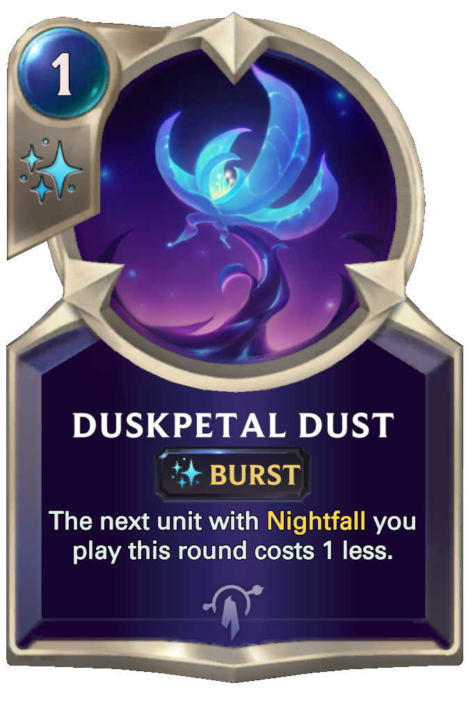 Legends of Runeterra Duskpetal Dust Card