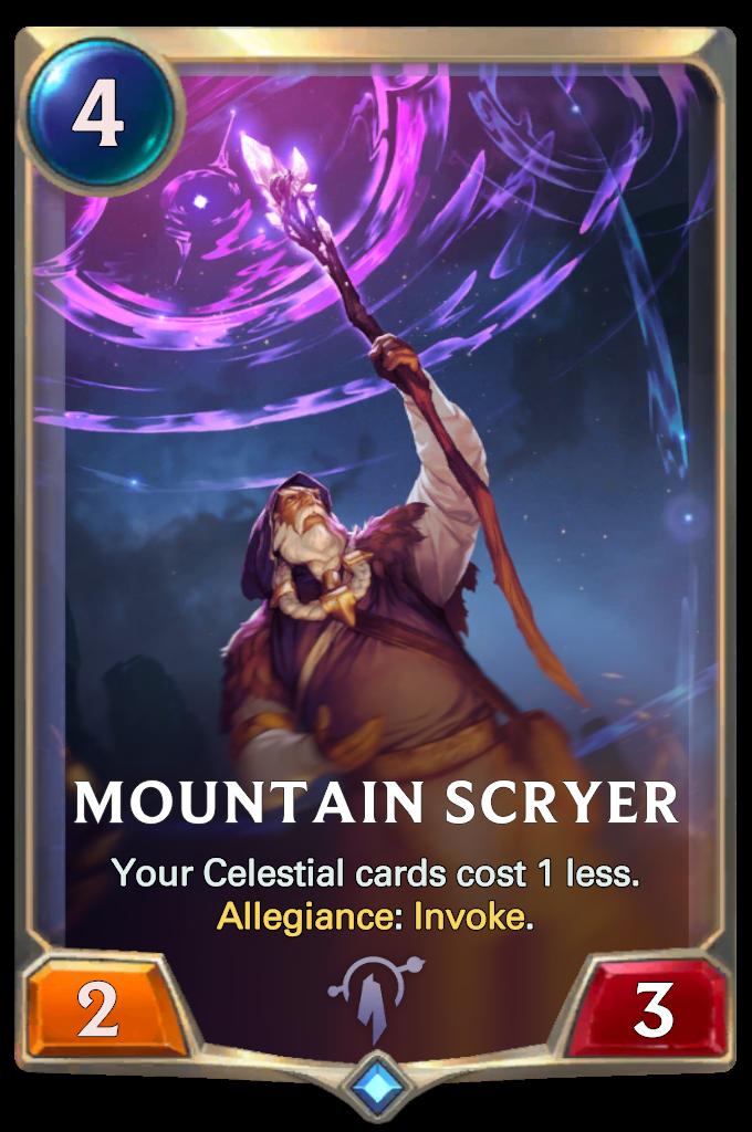 Legends of Runeterra Mountain Scryer Card