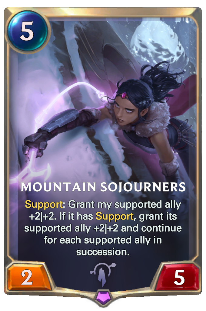 Legends of Runeterra Mountain Sojourners Card