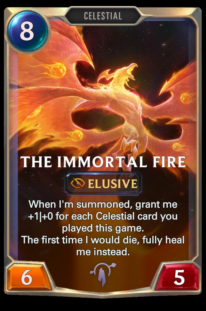 Legends of Runeterra The Immortal Fire Card