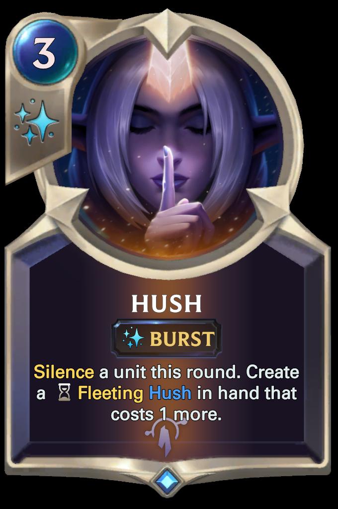 Legends of Runeterra Hush Card
