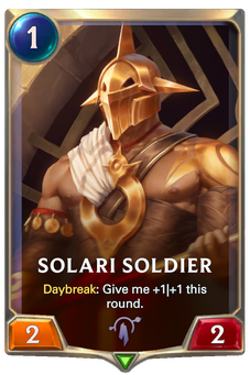 Legends of Runeterra Solari Soldier Card