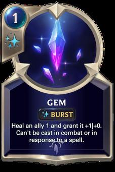 Legends of Runeterra Gem Card