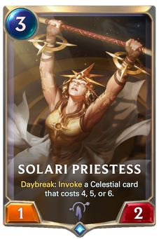 Legends of Runeterra Solari Priestess Card