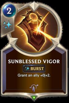 Legends of Runeterra Sunblessed Vigor Card