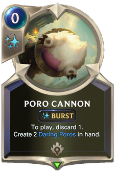 Legends of Runeterra Poro Cannon Card