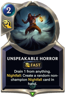 Legends of Runeterra Unspeakable Horror Card