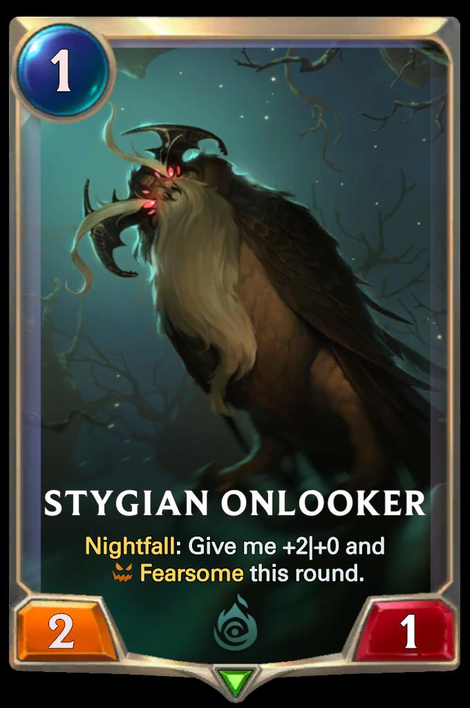 Legends of Runeterra Stygian Onlooker Card