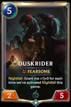 Legends of Runeterra Duskrider Card
