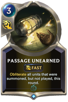Legends of Runeterra Passage Unearned Card