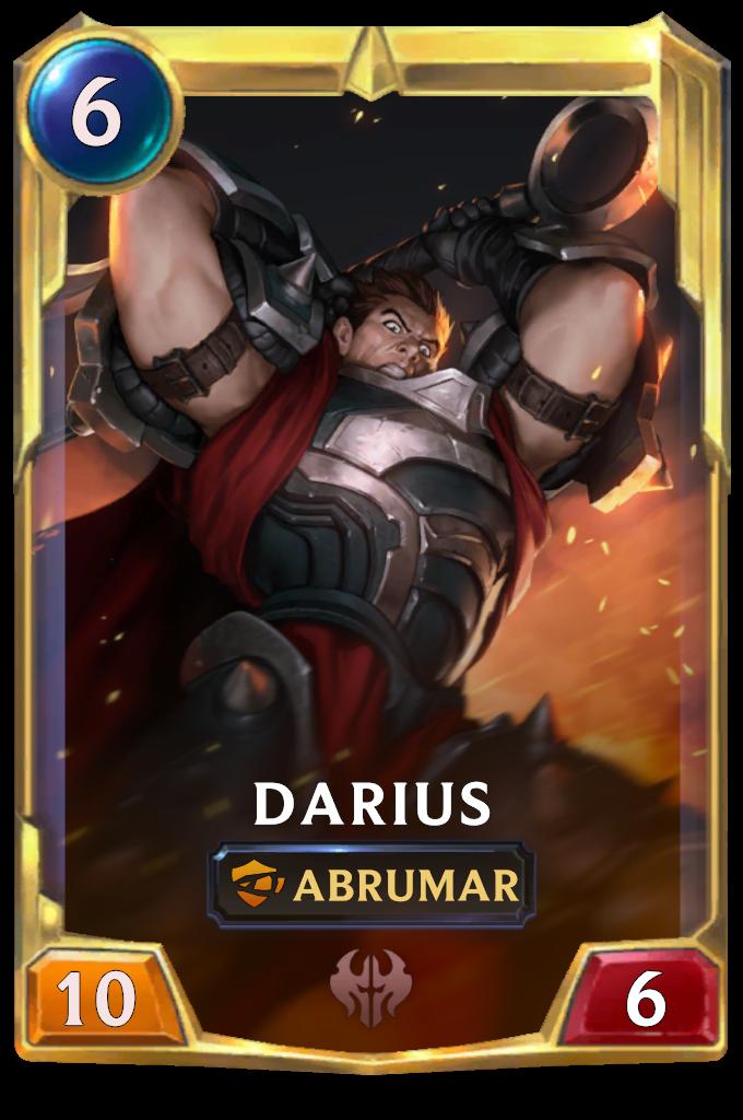 Legends of Runeterra Darius Card