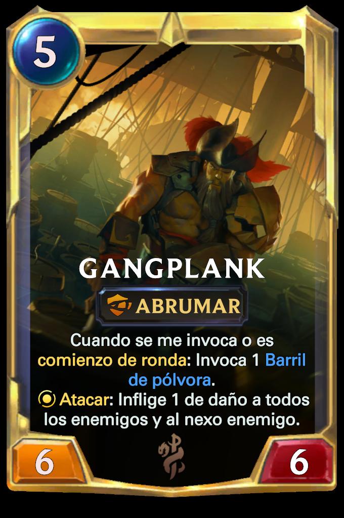 Legends of Runeterra Gangplank Card