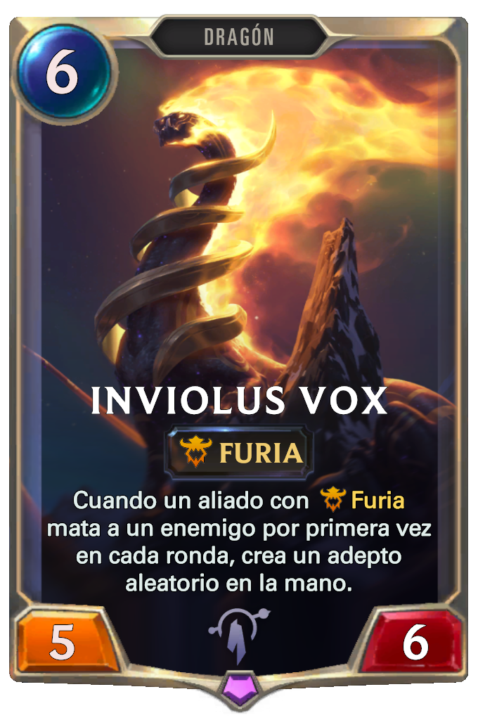Legends of Runeterra Inviolus Vox Card