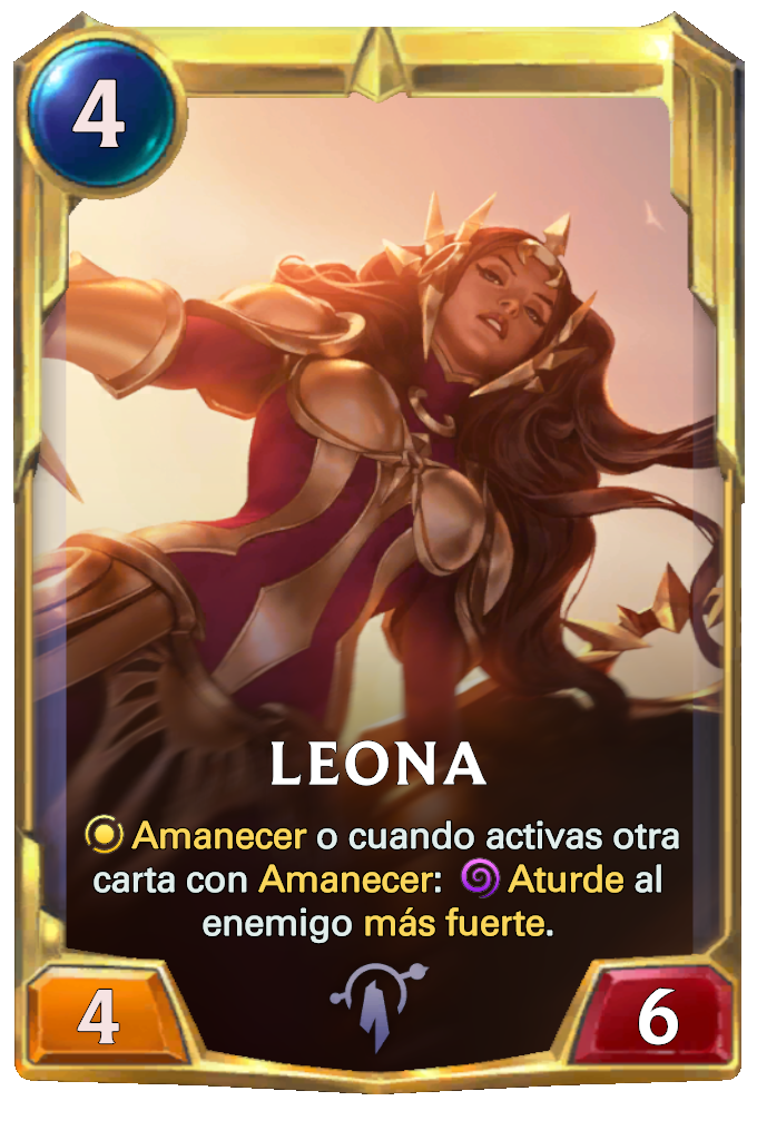 Legends of Runeterra Leona Card