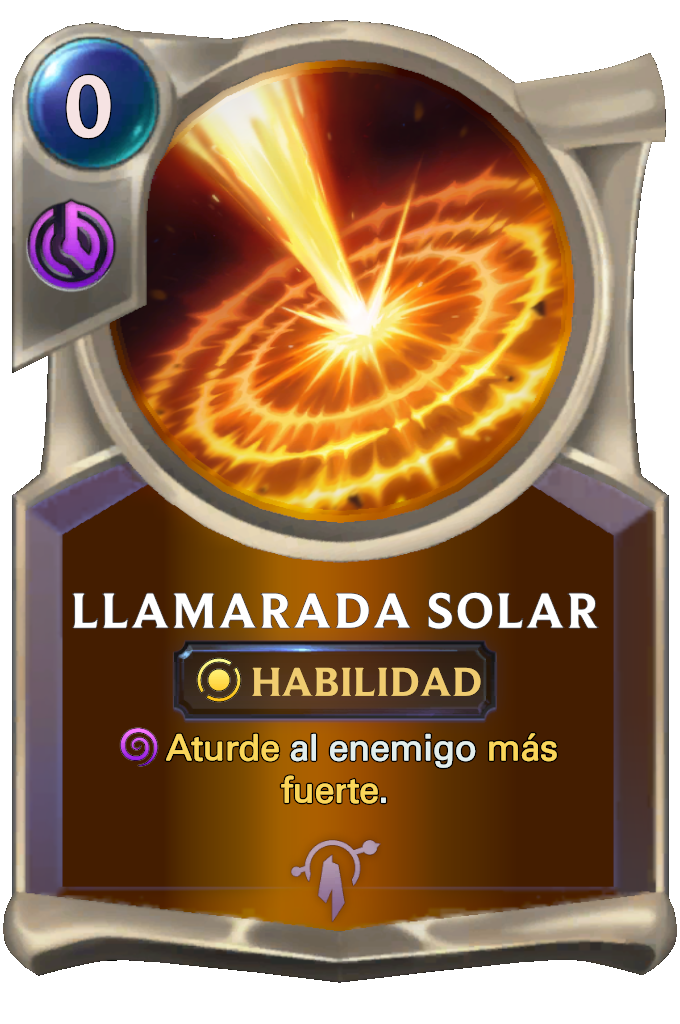 Solar Flare Card
