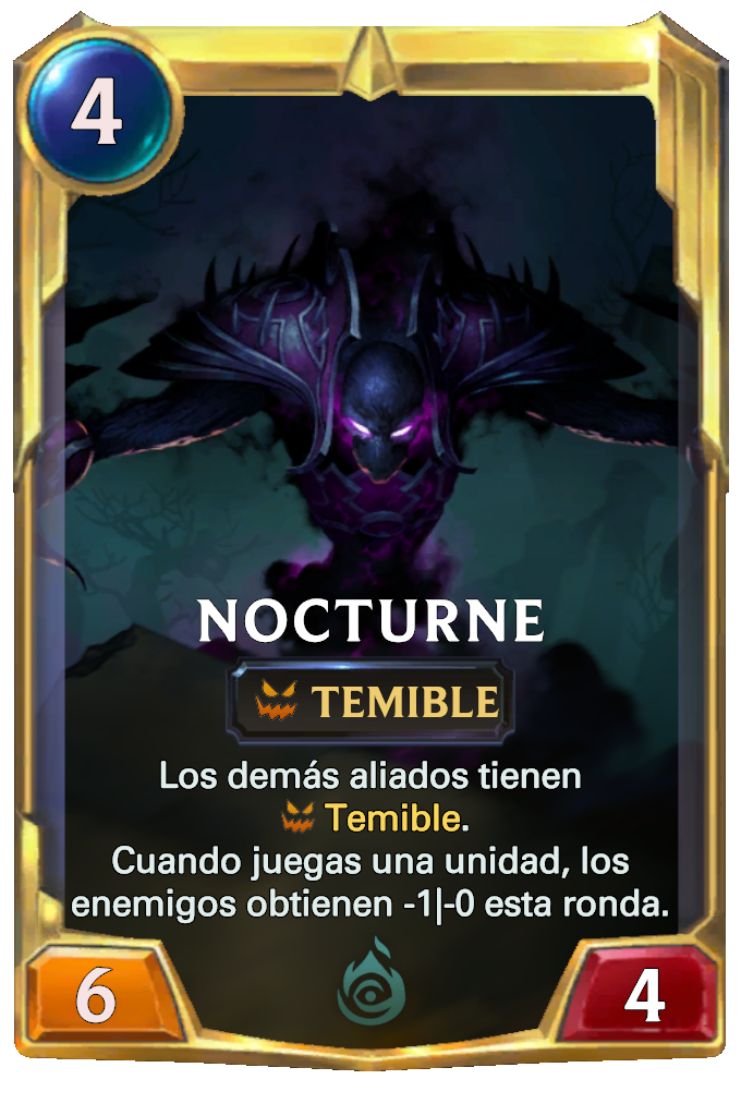 Legends of Runeterra Nocturne Card
