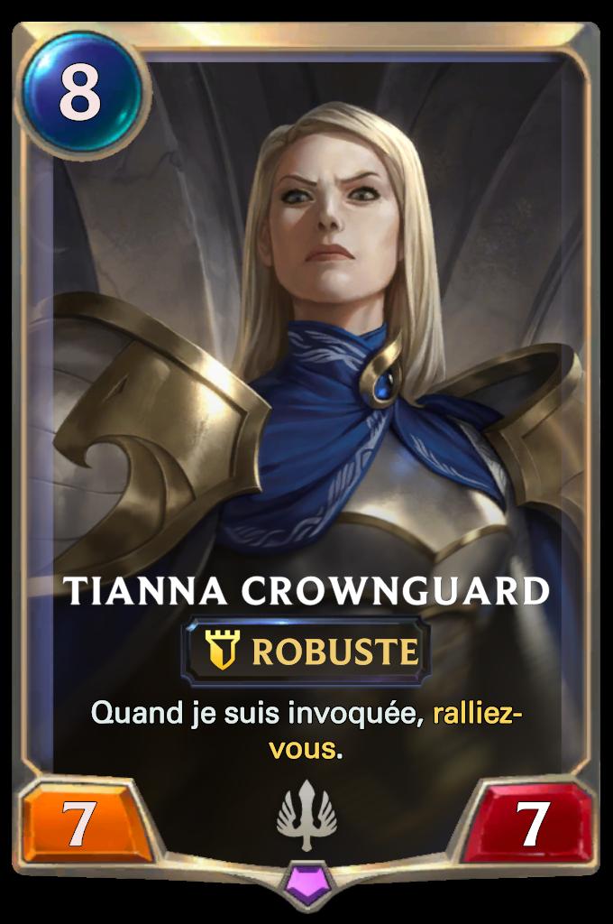 Legends of Runeterra Tianna Crownguard Card