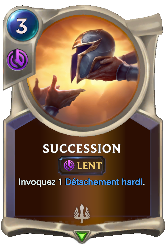Legends of Runeterra Succession Card