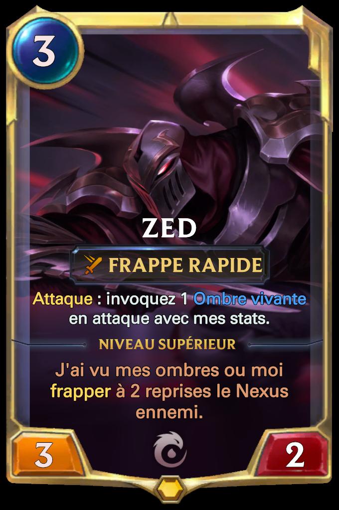 Legends of Runeterra Zed Card