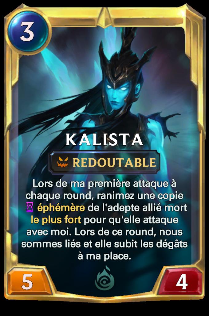 Legends of Runeterra Kalista Card