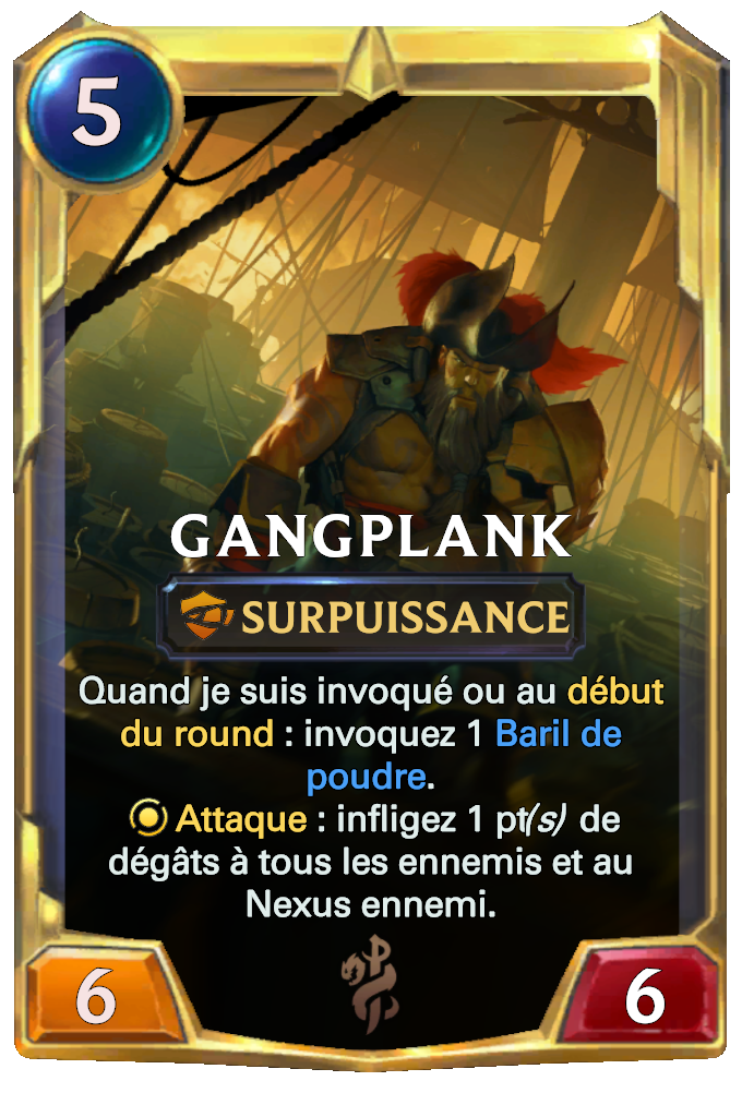 Legends of Runeterra Gangplank Card