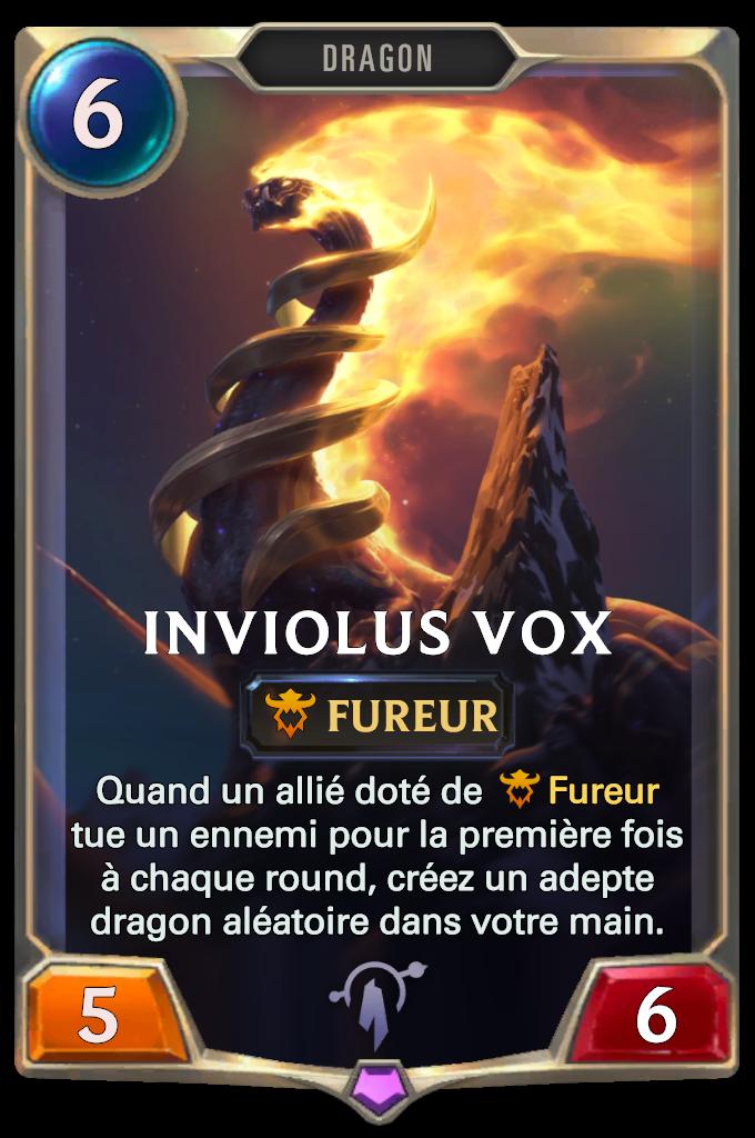 Legends of Runeterra Inviolus Vox Card